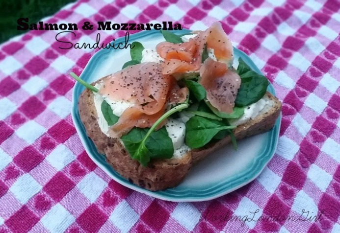 Salmon and Mozzarella Sandwich